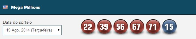 Acompanhe os últimos resultados da #loteria americana #Megamillions no www.grandesloterias.com