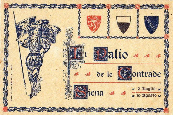 SIENA IL PALIO DELLE CONTRADE DI SIENA 1910