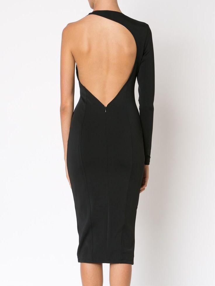 Misha Collection приталенное платье на одно плечо