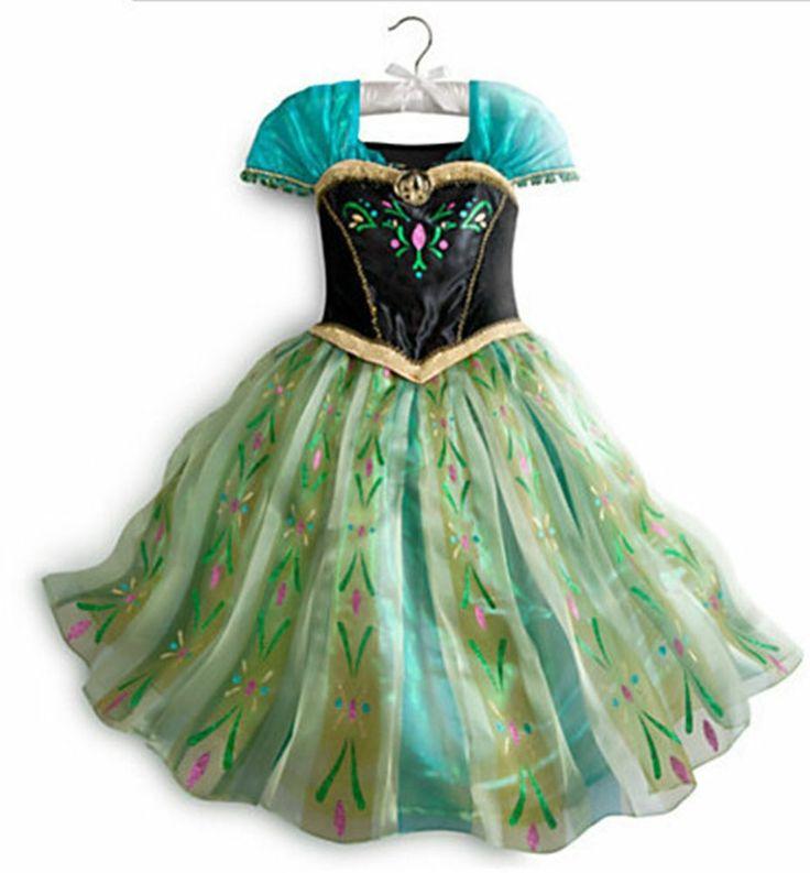 Frozen princess anna dress up costume pretend play cosplay ana elsa