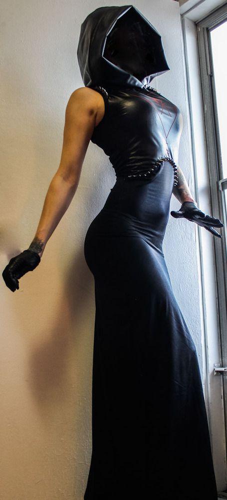 Image of TOXIC VISION hooded sigil dress