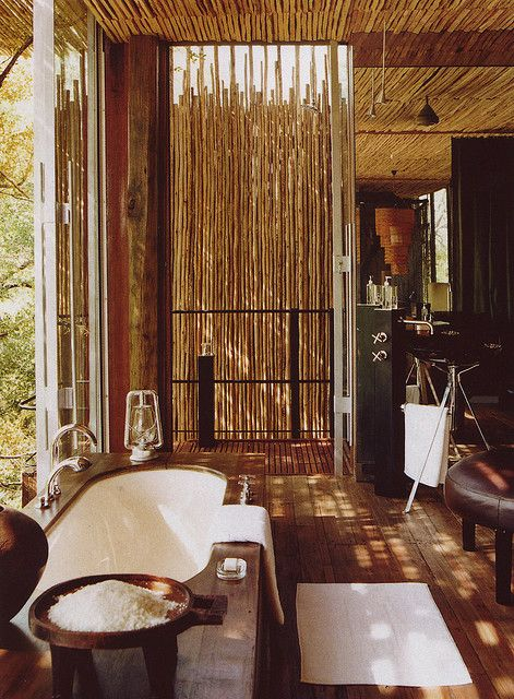 Safari Bathroom- Hoping this is what is in store with Sanctuary Retreats! #virtualsuitcase (Image via Australian Vogue Living)