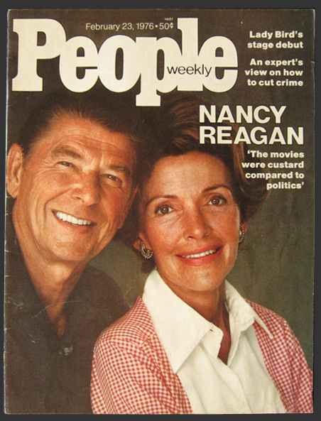 1976 People Magazine Cover ~ Nancy & Ronald Reagan