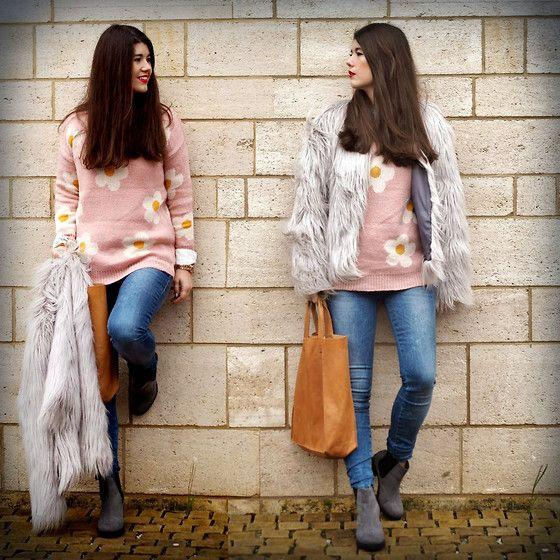 The Pink Primark Jumper, The Primark Boots, Ecco Bag, Fornarina Jeans, Vila Jacket