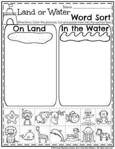 image result for land and water activities for kindergarten spring preschool worksheets. Black Bedroom Furniture Sets. Home Design Ideas