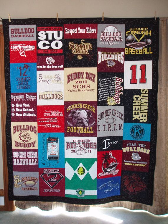 63 best Tee shirt quilt images on Pinterest | Quilting projects ... : graduation quilt ideas - Adamdwight.com