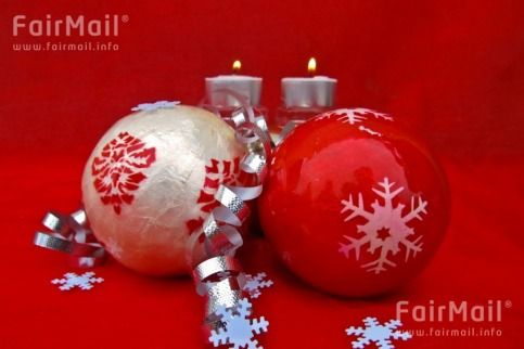 Red and White Ornaments - Christmas and New Year Holiday - FairMail - Fair Trade Photos - IAKD-0288