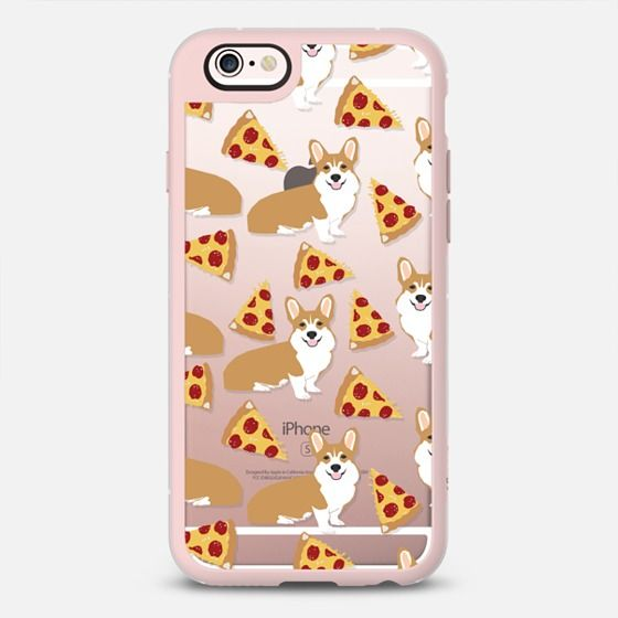 Corgi pizza cheesy slices welsh corgi lovers cell phone case must have gifts for dog person with corgis - New Standard Case