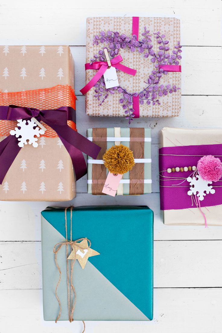 Use Scraps for Creative Gift Wrapping - Colorful Gifts - A Beautiful Mess