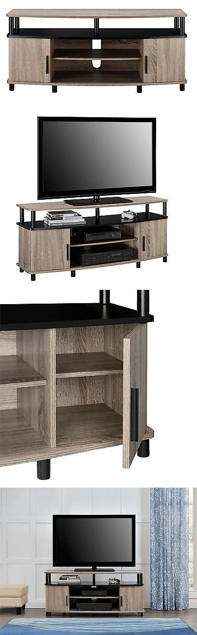 Entertainment Units TV Stands: Altra Dexter Tv And Gaming Stand For Tvs 50-Inch Sonoma Oak And Black -> BUY IT NOW ONLY: $69.44 on eBay!