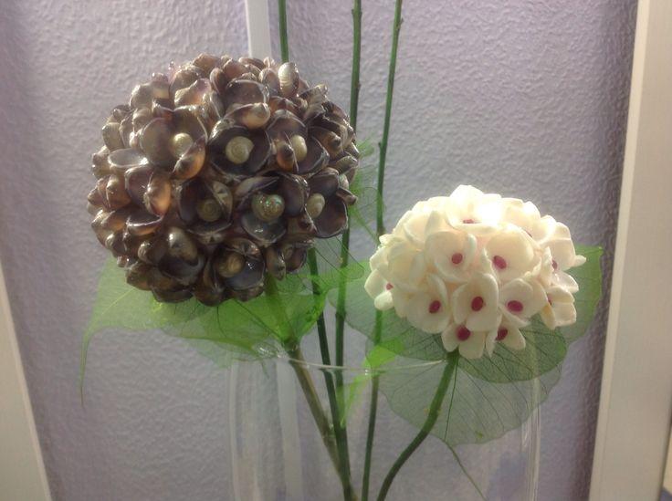 Quise hacer hortensias y creo que se parecen¿o no?