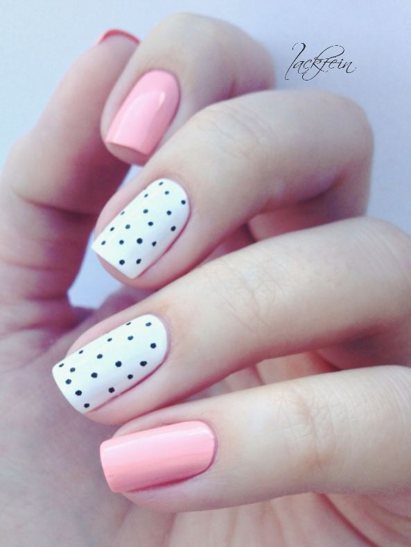Pink and Polka Dotted Nails