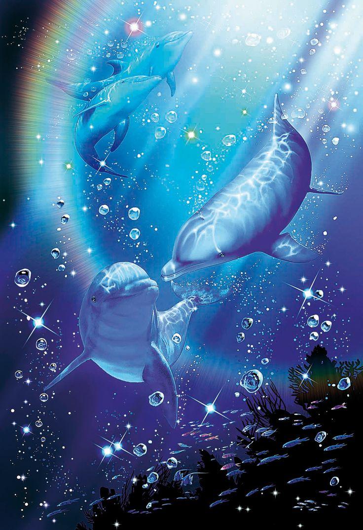 Картинки живые дельфины