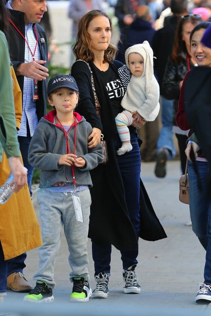 Natalie Portman with her son Aleph and daughter Amalia ...