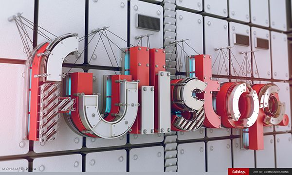 Fullstop on Wall by Mohamed Reda, via Behance