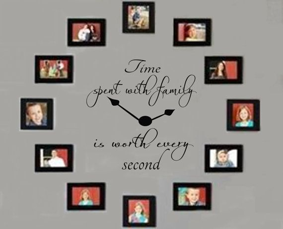 Time Spent with Family Decal Time Spent with by RoyceLaneCreations, $15.00