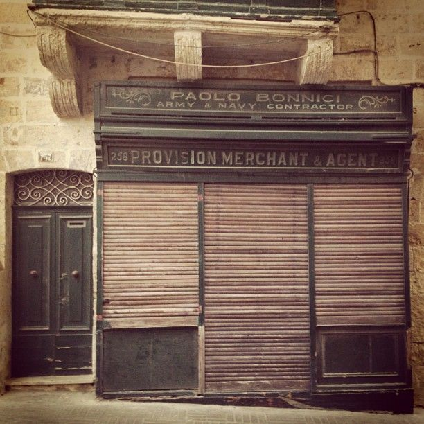 Army and Navy Contractor, Valletta. Closed since the British left. #Valletta #Malta