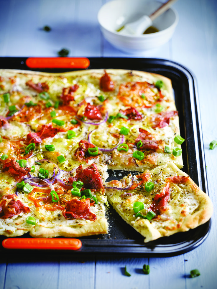 Le Creuset Ricotta Baked Pizza