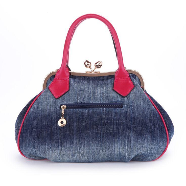 Women Handbags New Women Handbag With A Big 3D Flower,High Quality Denim Leather Tote Bag Female Large Shoulder Messenger Bags