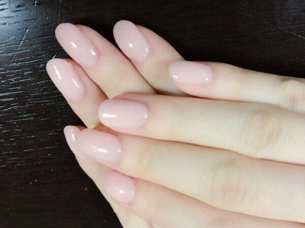 Clear gel nails
