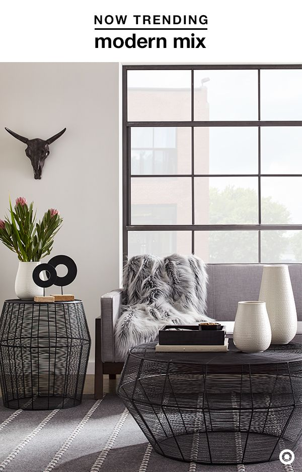 Refresh The Look Of Your Living Room With This Season S Favorite Duo Black And White Target Decorgeometric