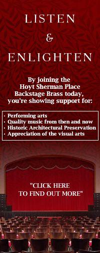 Backstage Hoyt Sherman Place