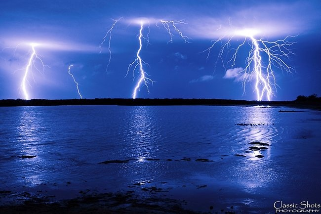 Lightning at St Kilda beach, Adelaide