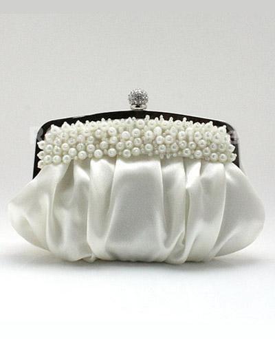 Belle sac à main avec lanière amovible orné de perles et de plis [#ROBE203455] - robedumariage.com