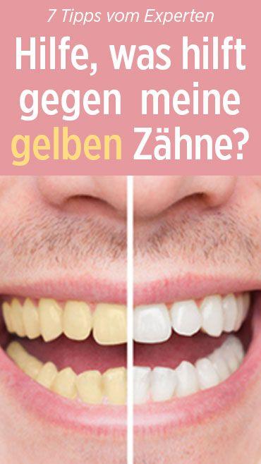 Endlich wissen, was wirklich gegen gelbe Zähne hilft.