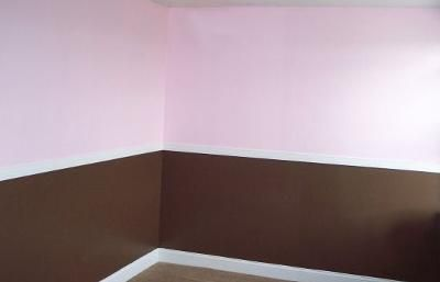 Chocolate Brown and Pink Baby Girl Nursery Walls Painting Technique Pictures