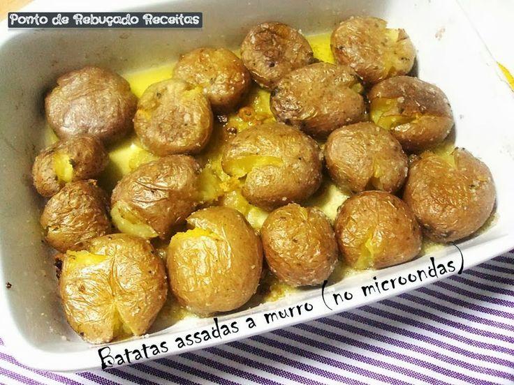 Ponto de Rebuçado Receitas: Batatas assadas a murro (no microondas)