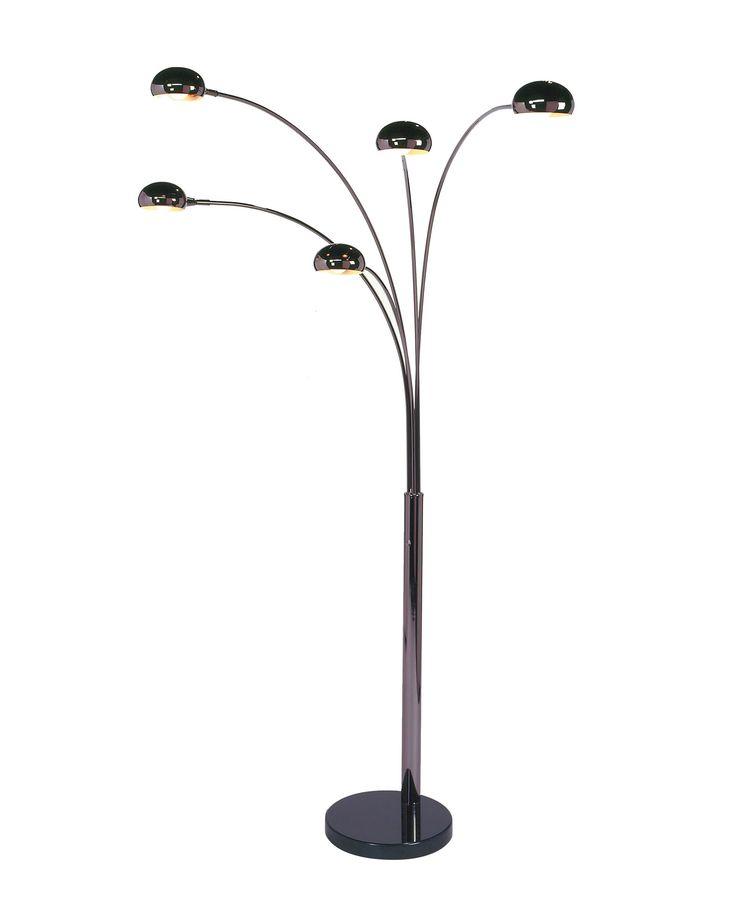 Mushroom 5 Light Arc Floor Lamp