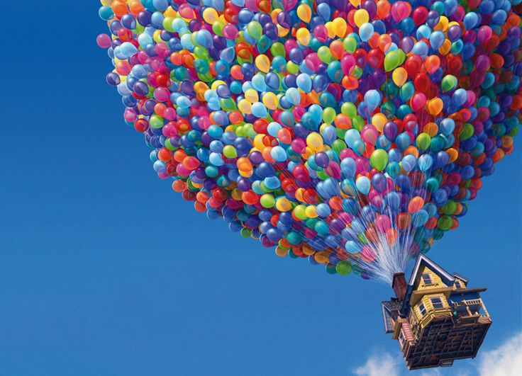 """Re-Creating """"Up"""" Movie With 90 Balloons and a Lawn Chair!"""