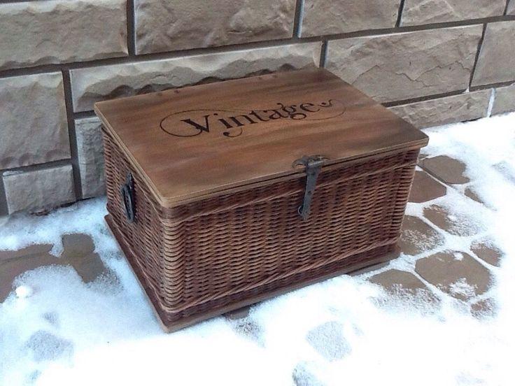 Купить Шкатулка - шкатулка, корзины, короб, коробка, для хранения, подарок, прованс, винтаж, плетеная корзина