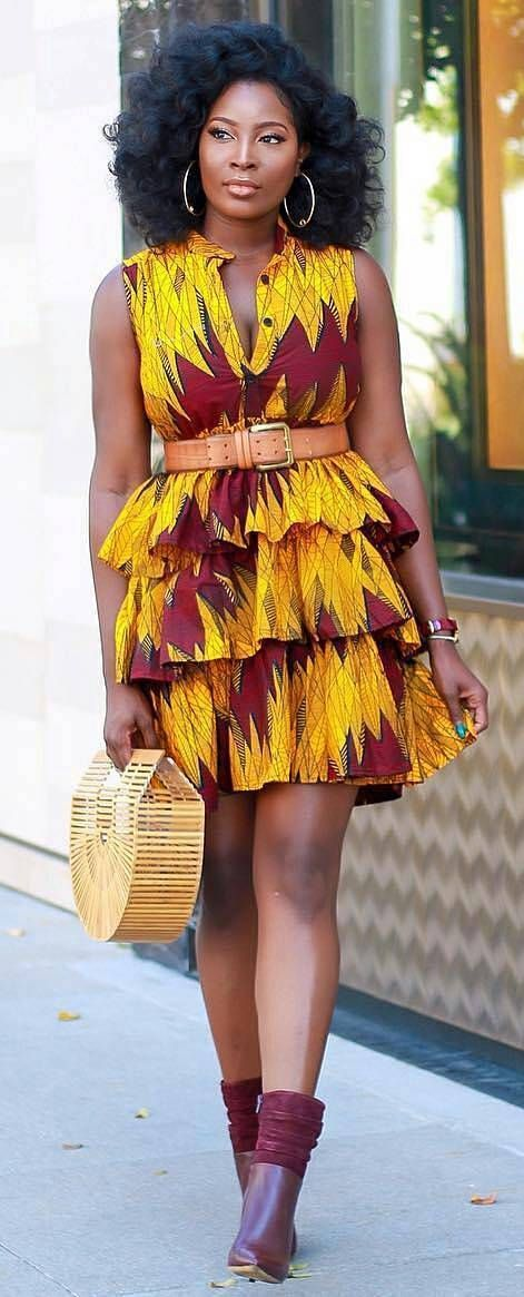 African print latest fashion style, African fashion, Ankara, kitenge, African women dresses, African prints.