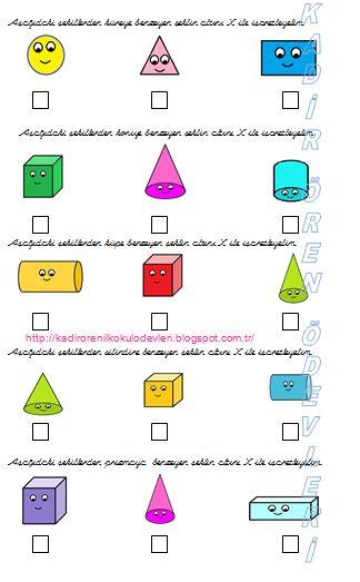 ilkokul ödevleri: 1.sınıf geometrik şekiller