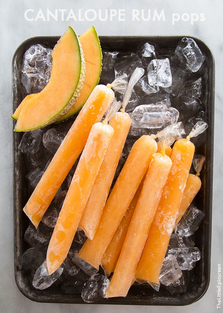 Cantaloupe Pops | the little epicurean *excluding the alcohol* great idea for the the hot summers healthy for the kids!