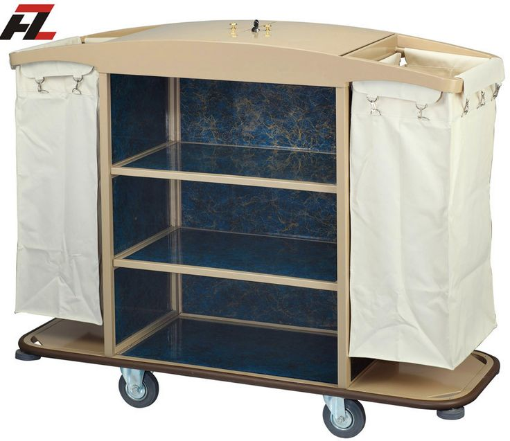Hotel Metal Housemaid Trolley with Cover-Housemaid Trolley
