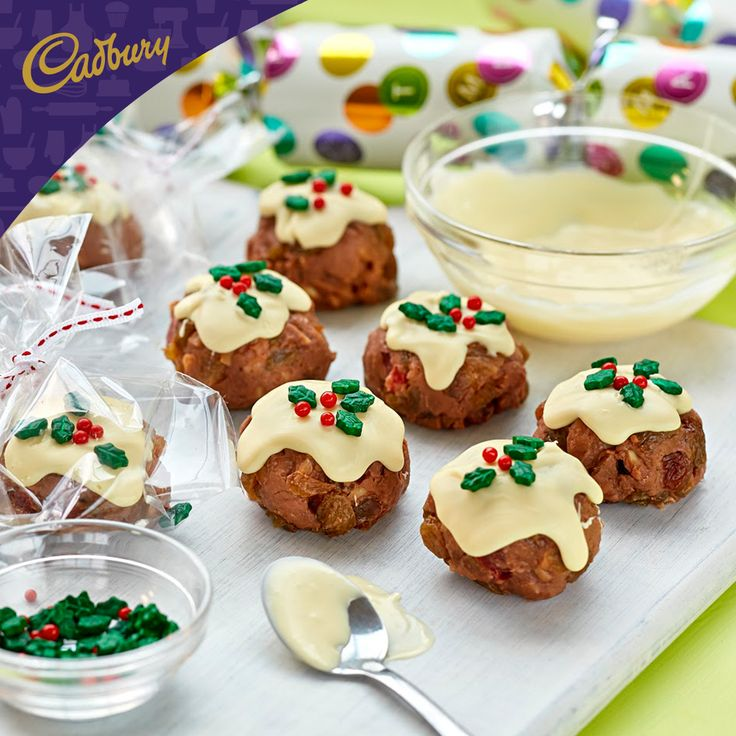 These Fudge Puddings will rock your world. The fudgey chocolate and fruit combo results in delicious bite-sized treats that you'll want to make over and over again! Ideal to bring to your Christmas in July party.  #bakeitcadbury #baking #chocolate #dessert #christmasinjuly