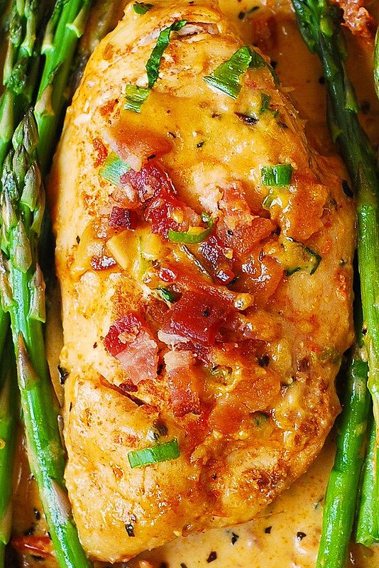 Bacon Chicken with Sun-Dried Tomato Cream Sauce
