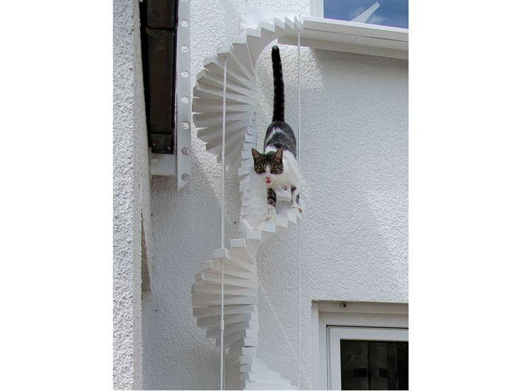 die besten 25 katzentreppe ideen auf pinterest katzen wandregale katze kletterwand und. Black Bedroom Furniture Sets. Home Design Ideas