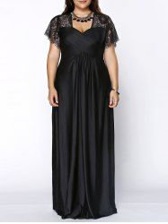 SHARE & Get it FREE | Stylish Plus Size Lace Panelled Sweetheart Neckline Dress For WomenFor Fashion Lovers only:80,000+ Items • New Arrivals Daily • Affordable Casual to Chic for Every Occasion Join Sammydress: Get YOUR $50 NOW!