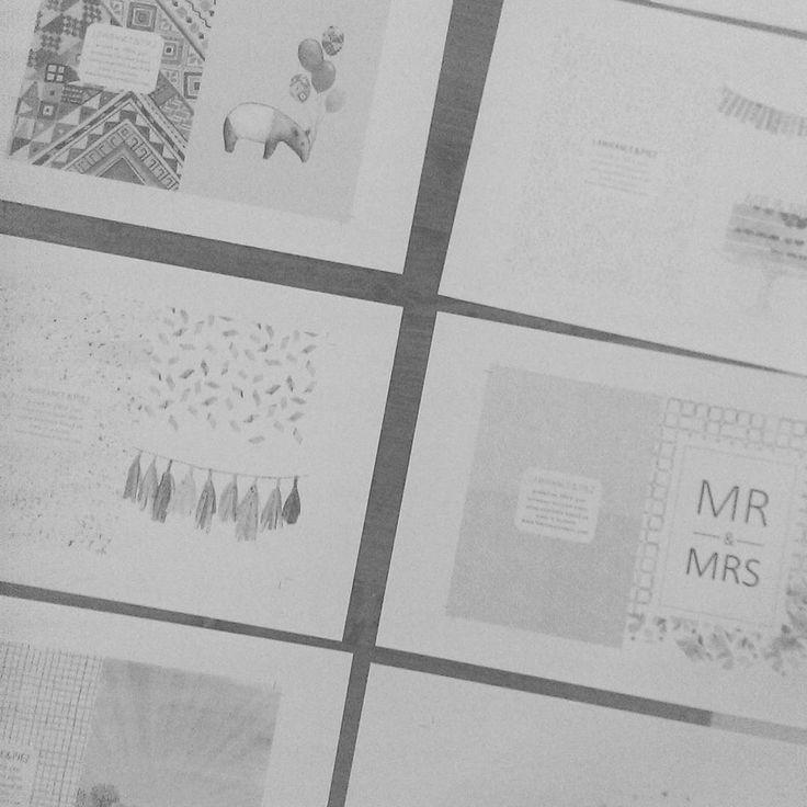 Range planning session! #design #greetingcards #stationary #recycled #illustration