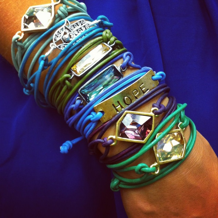 NEW DWNY leather wrap bracelets in all kinds of fun colors