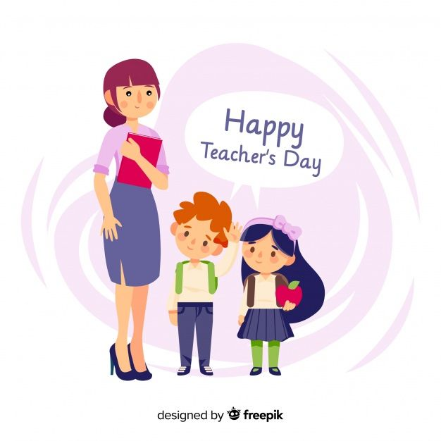 Download Lovely World Teachers Day Composition With Flat Design For Free Teachers Day Card Happy Teachers Day Teachers Day Greetings