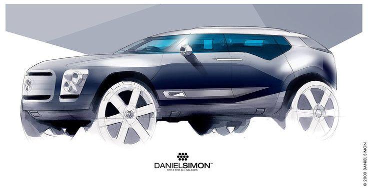 Daniel Simon Vw Luxury Suv Car Sketch Pinterest