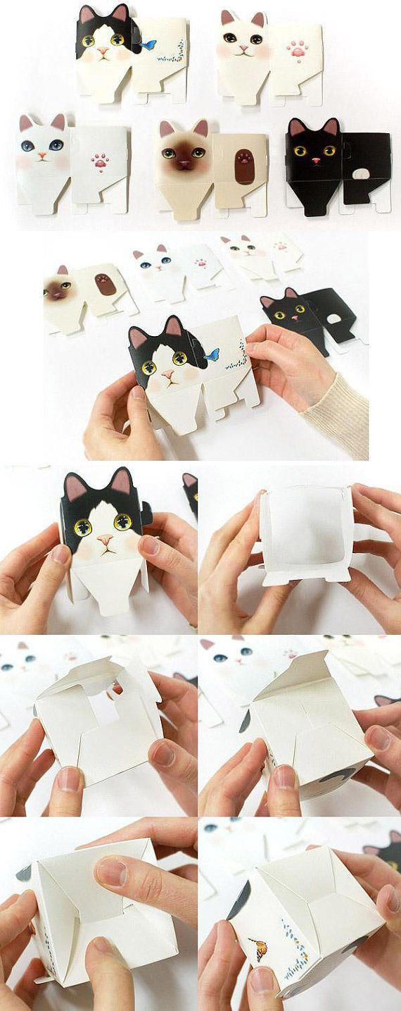Set of 5 Easy DIY Mini Scrapbook Storage or Pencil by boqinana, $4.50