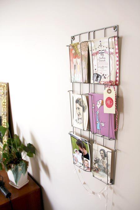 Porte cartes postales
