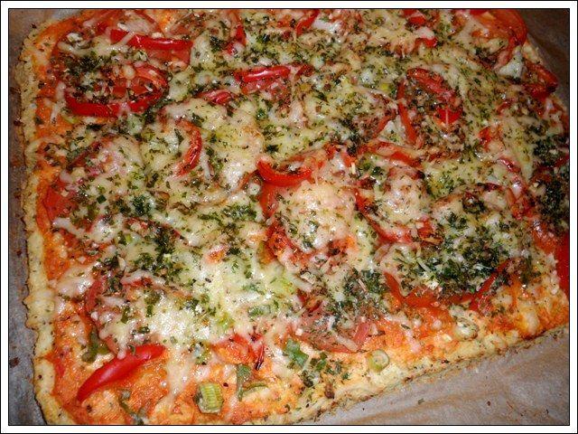 Bloemkoolwattes? Bloemkool-pizza! Lekkerrrrrrrrr....