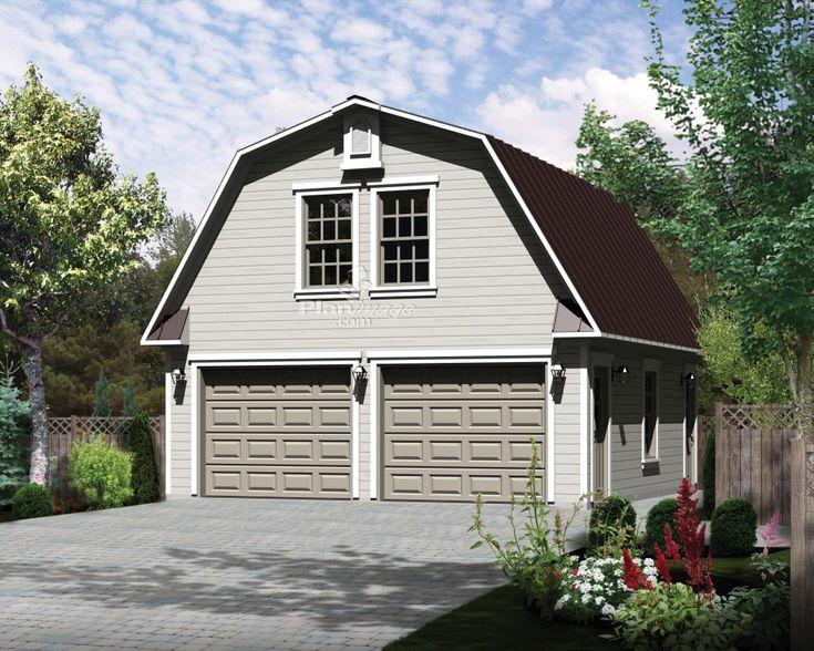 Recouvert d un toit mansard pente raide ce charmant garage loft peut loger deux voitures et - Pente d un toit ...